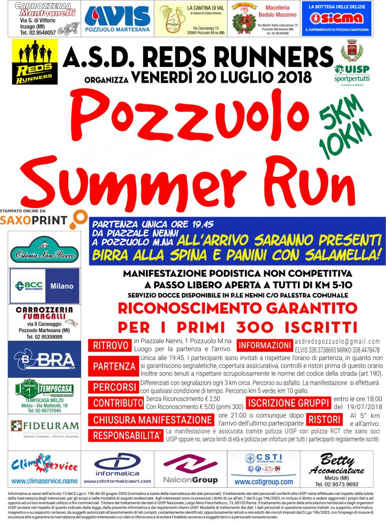 Pozzuolo Summer Run 2018