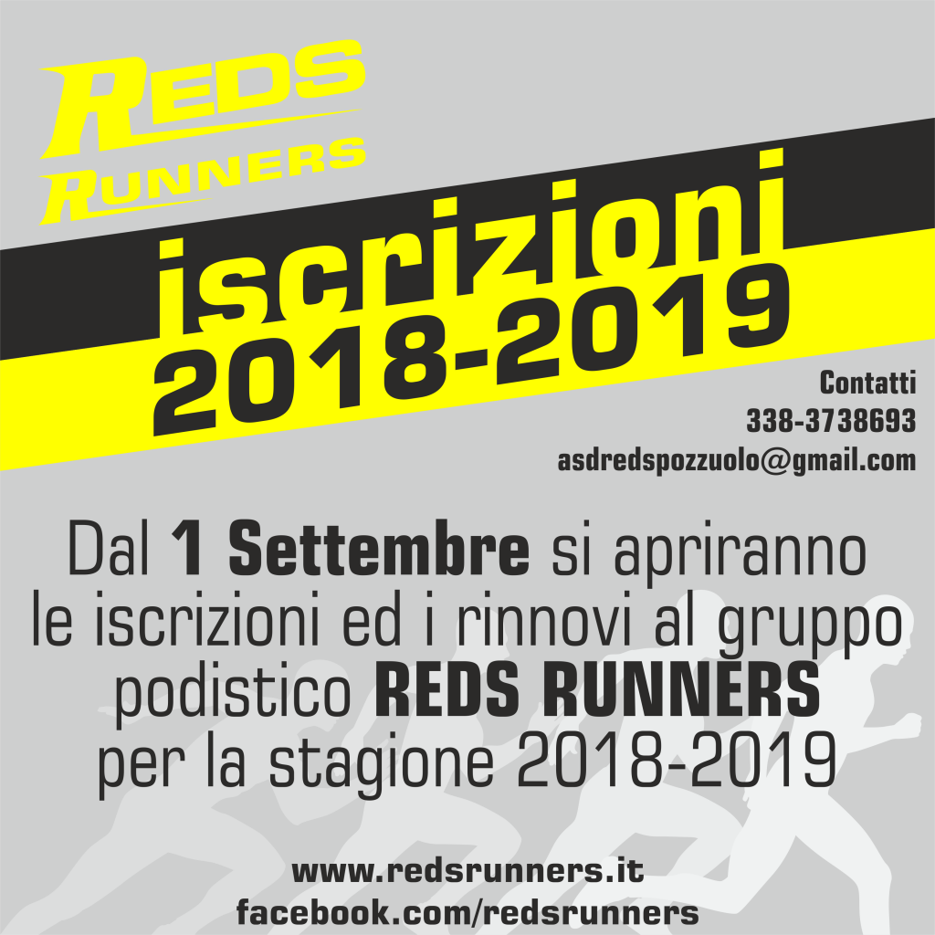 iscrizioni reds runners 2018